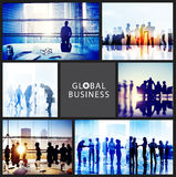 Global Business People Handshake Meeting Communication Concept Royalty Free Stock Image
