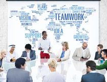 Global Business People Meeting Support Teamwork Concept Stock Photos