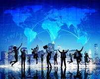 Global Business People Success Cityscape Concept Stock Photo