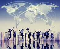 Global Business People Success Cityscape Concept Stock Images