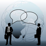 Global business people team connect talk bubbles Royalty Free Stock Photos