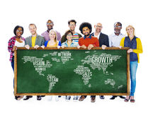 Global Business People Togetherness Community Success Growth Con Royalty Free Stock Images