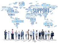 Global Business People Togetherness Support Teamwork Concept Royalty Free Stock Photos