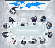 Global Business Presentation in a Contemporary Office Royalty Free Stock Image