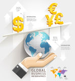Global business scale Infographics template. Royalty Free Stock Image