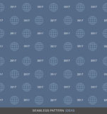 2017 Global Business Seamless Pattern Concept Series 03 Royalty Free Stock Photo