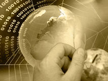 Global business (sepia) Royalty Free Stock Images