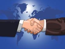 Global Business shake Stock Photography