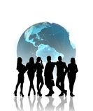 Global business, silhouettes Stock Photos