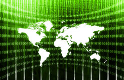 Global Business System. On a Green Background Stock Photo