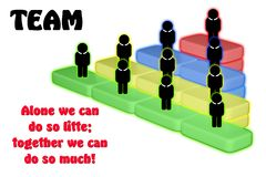 The Global Business Team. Together, teamwork on white background stock illustration