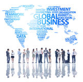 The Global Business Team with World Map Royalty Free Stock Photo