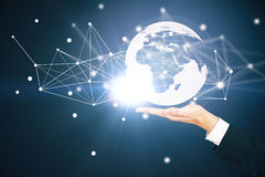 Global business and technologies concept Stock Photography