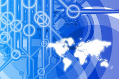 Global Business Technology Abstract Stock Photo