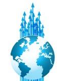Global Business Technology Progress Arrows Royalty Free Stock Photo