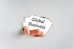 Global business text concept. Over white background Royalty Free Stock Photos