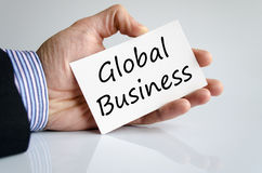 Global business text concept. Over white background Royalty Free Stock Images