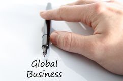 Global business text concept. Over white background Stock Image