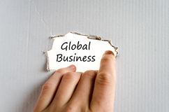 Global business text concept. Over white background Royalty Free Stock Photo