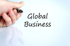 Global business text concept. Over white background Stock Images