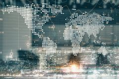 Global business and trade concept royalty free stock photo
