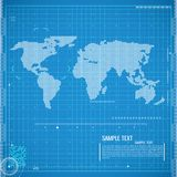 Global business. Vector. Abstract vector illustration in blue color Stock Images