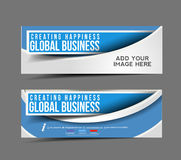 Global Business Web Banner. Header Layout Template Royalty Free Stock Photos