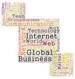 Global business word cloud Royalty Free Stock Images