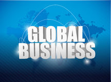 Global business world map concept illustration Royalty Free Stock Images
