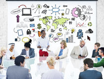 Global Business World Organization Market Commercial Concept stock photography