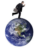 Global businessman Stock Photography