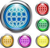 Global Buttons. For the web or other designs Stock Images