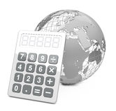 Global calculation. 3d generated picture of a global calculation concept Stock Photos