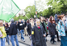 Global Cannabis March Vienna Royalty Free Stock Photo