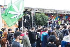 Global Cannabis March Vienna Royalty Free Stock Photography
