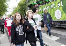 Global Cannabis March Vienna Stock Photo