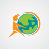 Global Care Graphic. World care logo element and graphic Royalty Free Stock Images