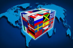 Global Cargo vector illustration