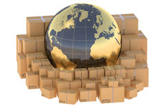 Global cargo shipping concept Stock Images