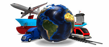 Global cargo transport concept Royalty Free Stock Image