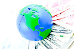 Global and cash money Royalty Free Stock Photo