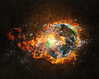 Global catastrophe concept Royalty Free Stock Image
