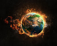 Global catastrophe concept Stock Photos