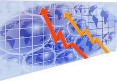 Global Chart. Performance grid Stock Photos