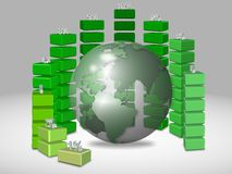 Global chart Stock Image