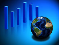 Global chart Stock Photo