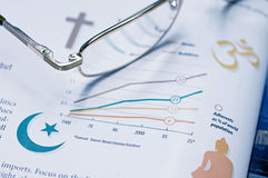 Global Chart of Religions Stock Photo