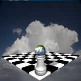 Global Chess Royalty Free Stock Photography