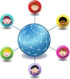 Global Children Network Royalty Free Stock Photo