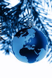 Global Christmas Blue Stock Images